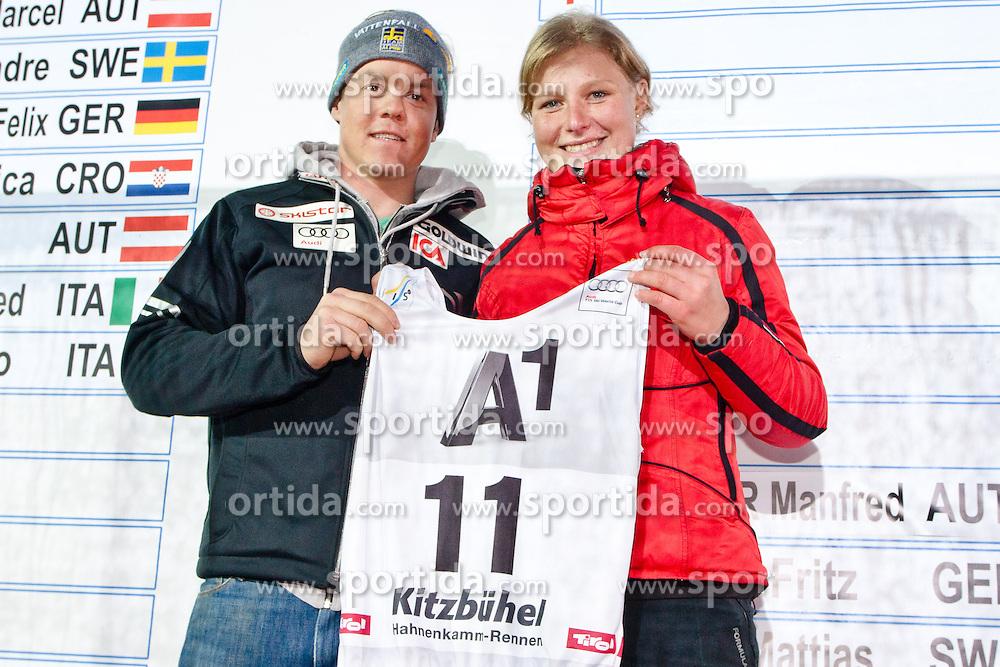 26.01.2013, Streif, Kitzbuehel, AUT, FIS Weltcup Ski Alpin, Abfahrt, Herren, Super G, im Bild Mattias Hargin (SWE) // during mens SuperG of the FIS Ski Alpine World Cup at the Streif course, Kitzbuehel, Austria on 2013/01/26. EXPA Pictures © 2013, PhotoCredit: EXPA/ Markus Casna