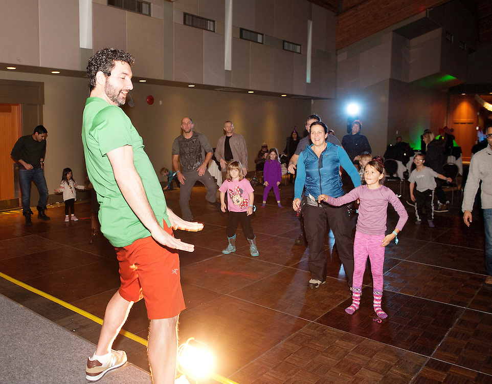 Ira Pettle leads a dance session at the Conference Centre New Year's eve.  Saturday, Dec 31, 2016,<br /> <br /> Photo:  David Buzzard