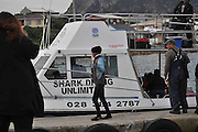 """20/08/2010 - South Africa -<br /> US Actress Halle returning from """"Dark Tide"""" shooting in notorious Shark Alley between 2 islands off Gansbaai in the Cape. South Africa, In these Friday shots she's looking composed after long day shooting that took place with at least 15 Great Whites around the boat. The location is one of the best shark cage diving spots in the world that's been visited several times by Prince Harry, Brad Pitt & Matt Damon. <br /> ©Mike Behr/Exclusivepix"""