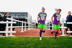 Danique Kerkdijk of Bristol City and Gemma Evans of Bristol City - Mandatory by-line: Ryan Hiscott/JMP - 14/10/2018 - FOOTBALL - Stoke Gifford Stadium - Bristol, England - Bristol City Women v Birmingham City Women - FA Women's Super League 1