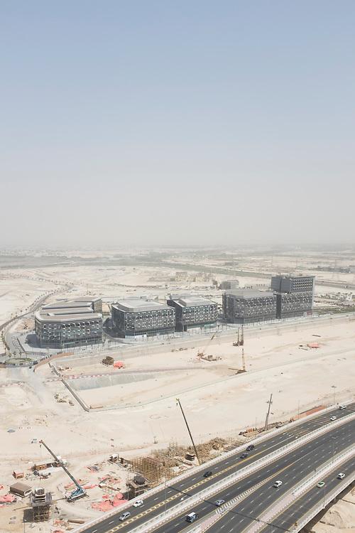 DUBAI, UAE —AUGUST 21, 2016: Aerial view of Dubai Design District (D3)