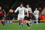 Marouane Fellaini of Manchester United during the Barclays Premier League match between Bournemouth and Manchester United at the Goldsands Stadium, Bournemouth, England on 12 December 2015. Photo by Phil Duncan.