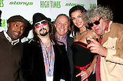 """NEW YORK - OCTOBER 24: (L-R) Donnell Rawlings, High Times columnist Bobby Black,  Jackie Martling, Adrianne Curry and Jeff """"The Dude"""" Dowd attend the 6th Annual High Times Stony Awards at B.B. King's on October 20, 2006 on Broadway in New York City."""