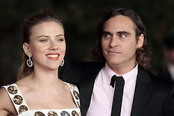 60697660 Scarlett Johansson with Joaquin Phoenix  attends the 'Her' Premiere during The 8th Rome Film Festival on November 10, 2013 in Rome, Italy. Picture by  imago / i-Images<br /> UK ONLY
