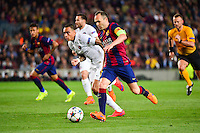 Andres INIESTA / Gregory VAN DER WIEL - 21.04.2015 - Barcelone / Paris Saint Germain - 1/4Finale Retour Champions League<br />