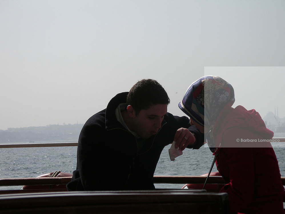 Istanbul. On a ferryboat along the Bosphorus.
