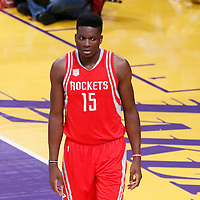 26 October 2016: Houston Rockets center Clint Capela (15) is seen during the Los Angeles Lakers 120-114 victory over the Houston Rockets, at the Staples Center, Los Angeles, California, USA.