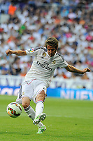 Real Madrid´s Fabio Coentrao during 2014-15 La Liga match between Real Madrid and Valencia at Santiago Bernabeu stadium in Madrid, Spain. May 09, 2015. (ALTERPHOTOS/Luis Fernandez)