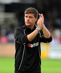 Bristol Rovers Manager, Darrell Clarke - Photo mandatory by-line: Neil Brookman - Mobile: 07966 386802 23/08/2014 - SPORT - FOOTBALL - Bristol - Memorial Stadium - Bristol Rovers v AFC Telford - Vanarama Football Conference