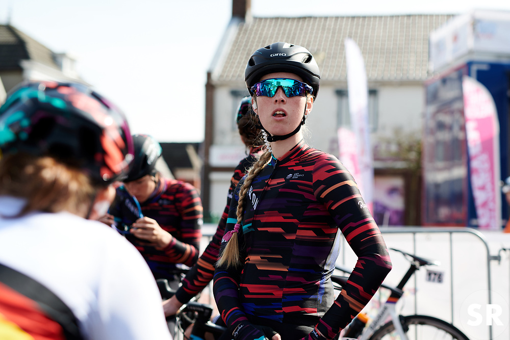 Alice Barnes (GBR) ahead waits to sign on at Healthy Ageing Tour 2018 - Stage 4, a 143 km road race starting and finishing in Winsum on April 7, 2018. Photo by Sean Robinson/Velofocus.com