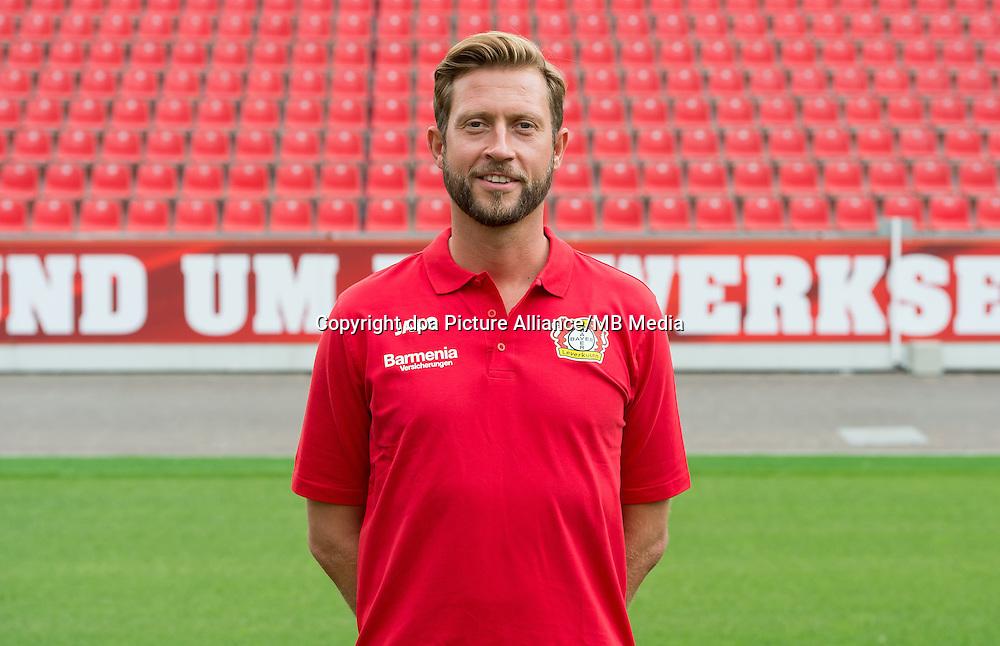 German Bundesliga - Season 2016/17 - Photocall Bayer 04 Leverkusen on 25 July 2016 in Leverkusen, Germany: Assistant-coach Lars Kornetka. Photo: Guido Kirchner/dpa | usage worldwide