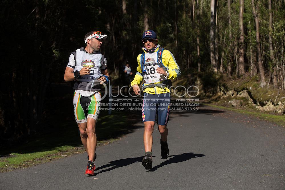 Team Outer Limits (Mitch Evans and Sam Steadman). Adventure Racing. Swisse Mark Webber Challenge 2013. Hobart, Tasmania, Australia. 01/12/2013. Photo By Lucas Wroe