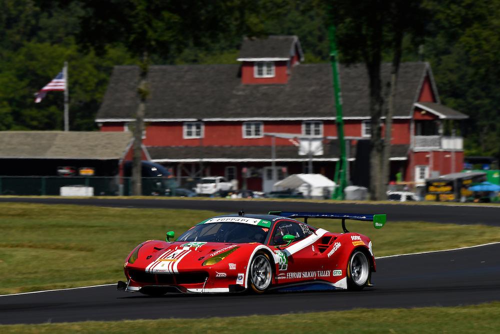 26-28 August, 2016, Alton, Virginia USA<br /> 63, Ferrari, 488 GT3, GTD, Christina Nielsen, Alessandro Balzan<br /> &copy;2016, Scott R LePage <br /> LAT Photo USA