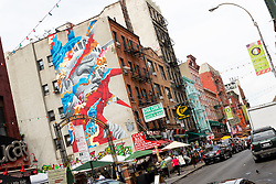THEMENBILD - Little Italy ist ein Stadtteil in Lower Manhattan und war bekannt fuer seinen grossen Anteil an italienischer Amerikanern. Heutzutage gibt es in diesem Stadtetil nur noch ein paar italienische Geschaefte und Restaurants, im Bild ein Graffiti in Mulberry Street, Aufgenommen am 10. August 2016 // Little Italy is a neighborhood in Lower Manhattan, once known for its large population of Italian Americans. Today the neighborhood consists of only a few Italian stores and restaurants, This pictures shows a graffiti in Mulberry Street, New York City, United States on 2016/08/10. EXPA Pictures © 2016, PhotoCredit: EXPA/ Sebastian Pucher