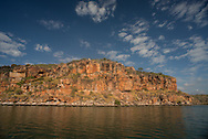 Sandstone cliffs, King George River, Kimberly, Western Australia.