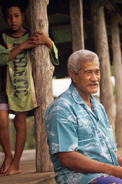 Western Samoa, Siumu Village, villagers