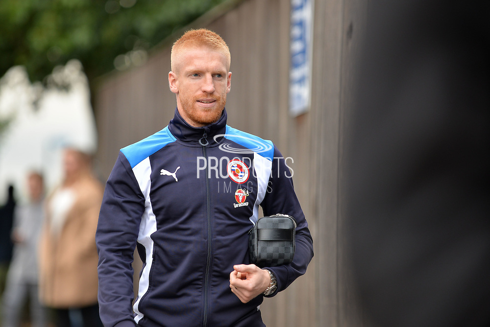 Reading Defender, Paul McShane (5) arrives before kickoff  during the EFL Sky Bet Championship match between Reading and Ipswich Town at the Madejski Stadium, Reading, England on 9 September 2016. Photo by Adam Rivers.