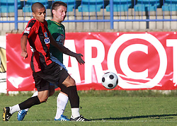 Joao Gabriel Da Silva (8) of Primorje and Denis Grbic (10) of Rudar at 6th Round of PrvaLiga Telekom Slovenije between NK Primorje Ajdovscina vs NK Rudar Velenje, on August 24, 2008, in Town stadium in Ajdovscina. Primorje won the match 3:1. (Photo by Vid Ponikvar / Sportal Images)