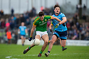 16/12/2018, Meath vs Dublin senior football charity game in Pairc Tailteann <br /> Ethan Devine (Meath) & Eric Lowndes (Dublin)<br /> David Mullen / www.cyberimages.net<br /> ISO: 1250; Shutter: 1/1250; Aperture: 4; <br /> File Size: 2.8MB
