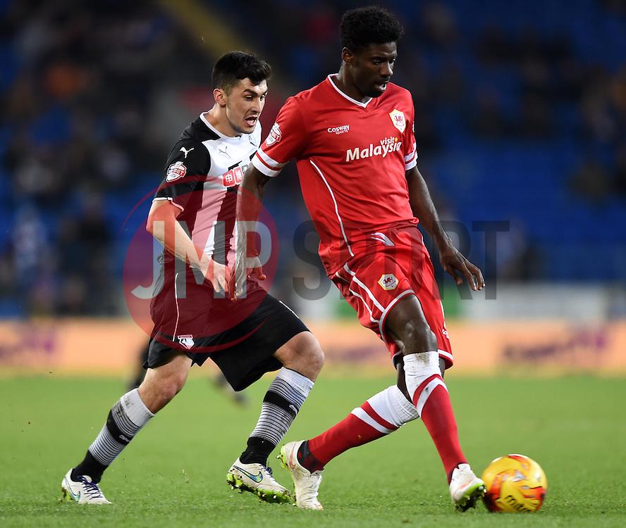Cardiff City's Bruno Ecuele Manga passes the ball - Photo mandatory by-line: Paul Knight/JMP - Mobile: 07966 386802 - 28/12/2014 - SPORT - Football - Cardiff - Cardiff City Stadium - Cardiff City v Watford - Sky Bet Championship
