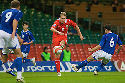 CARDIFF, WALES - Friday, September 5, 2008: Wales' David Edwards in action against Azerbaijan during the opening 2010 FIFA World Cup South Africa Qualifying Group 4 match at the Millennium Stadium. (Photo by Gareth Davies/Propaganda)