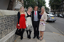 Jeweller THEO FENNELL, his wife LOUISE FENNELL and their daughters EMERALD & COCO at the wedding of Chloe Delevingne to Louis Buckworth at St.Paul's Knightsbridge, London on 7th September 2007.<br /><br />NON EXCLUSIVE - WORLD RIGHTS