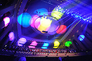 Atmosphere during Widespread Panic's performance at the Peabody Opera House in St. Louis on October 11, 2011.