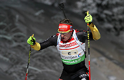 05.01.2012, DKB-Ski-ARENA, Oberhof, GER, E.ON IBU Weltcup Biathlon 2012, Staffel Herren, im Bild Florian Graf (GER) // during relay Mens of E.ON IBU World Cup Biathlon, Thüringen, Germany on 2012/01/05. EXPA Pictures © 2012, PhotoCredit: EXPA/ nph/ Hessland..***** ATTENTION - OUT OF GER, CRO *****