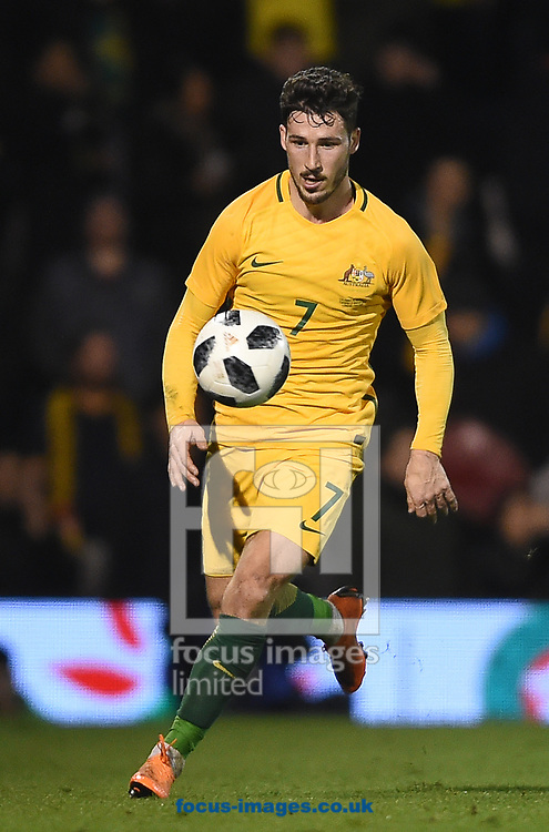 Mathew Leckie of Australia during the International Friendly match at Craven Cottage, London<br /> Picture by Daniel Hambury/Focus Images Ltd 07813022858<br /> 27/03/2018