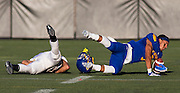 26 August 2016:  Vancouver Island Thunder Bowl.  Action during a men's CIS exhibition Football game between the University of British Columbia Thunderbirds and the visiting University of Manitoba Bisons at Westhills Stadium in Langford, BC, Canada. Final Score: Manitoba 50 UBC 7 ****(Photo by Bob Frid/UBC Athletics  2016 - All Rights Reserved****)