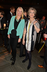 Left to right, ANNEKA RICE and MAUREEN LIPMAN at the Costa Book of The Year Awards held at Quaglino's, 16 Bury Street, London on 26th January 2016.