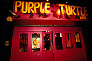 The exterior of Purple Turtle bar in Camden, U.K, 2000s.
