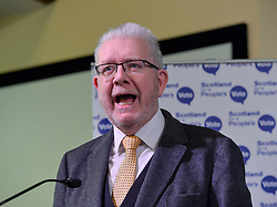 Pictured: Brexit Secretary Mike Russell MSP speaks at the rally.<br /> <br /> Supporters for a People's Vote on Brexit held a Rally for Europe in Edinburgh on Saturday. Prominent speakers included Mike Russell, Labour MEP Catherine Stihler, economist Anton Muscatelli.<br /> <br /> © Dave Johnston / EEm