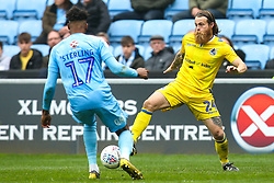 Stuart Sinclair of Bristol Rovers takes on Dujon Sterling of Coventry City - Mandatory by-line: Robbie Stephenson/JMP - 07/04/2019 - FOOTBALL - Ricoh Arena - Coventry, England - Coventry City v Bristol Rovers - Sky Bet League One