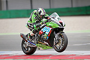 Leon Haslam (91) JG Speedfit Kawasaki during qualifying at the BSB Championship at the TT Circuit,  Assen, Netherlands on 1 October 2016. Photo by Nigel Cole.