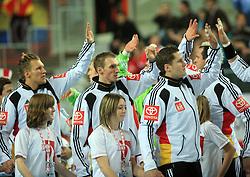 Players of Germany before 21st Men's World Handball Championship preliminary Group C match between FYR Macedonia and Germany, on January 21, 2009, in Arena Varazdin, Varazdin, Croatia. (Photo by Vid Ponikvar / Sportida)