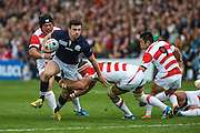Scotland's Matt Scott  during the Rugby World Cup Pool B match between Scotland and Japan at the Kingsholm Stadium, Gloucester, United Kingdom on 23 September 2015. Photo by Shane Healey.