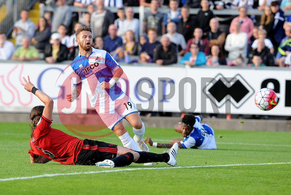 Matty Taylor of Bristol Rovers - Mandatory by-line: Neil Brookman/JMP - 07966386802 - 31/07/2015 - SPORT - FOOTBALL - Bristol,England - Memorial Stadium - Bristol Rovers v West Brom - Pre-Season Friendly