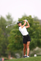 August 19, 2004; Dublin, OH, USA;  14 year old amateur Michelle Wie hits off the fairway during the 1st round of the Wendy's Championship for Children golf tournament held at Tartan Fields Golf Club.  <br />