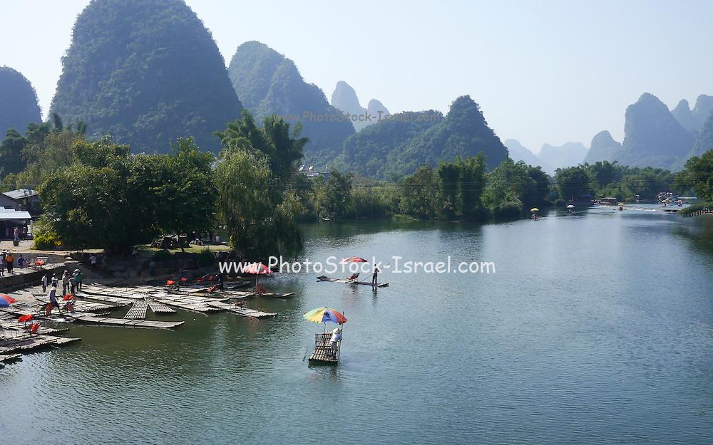 China, Yangshuo County, Yulong River Karst formations
