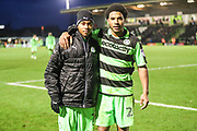 Forest Green Rovers Keanu Marsh-Brown(7) and Forest Green Rovers Reuben Reid(26) during the EFL Sky Bet League 2 match between Forest Green Rovers and Port Vale at the New Lawn, Forest Green, United Kingdom on 6 January 2018. Photo by Shane Healey.
