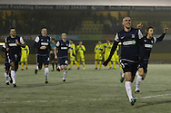 Picture by David Horn/Focus Images Ltd +44 7545 970036.11/12/2012.Southend United players celebrate winning a penalty shoot out during the The FA Cup match at Roots Hall, Southend.