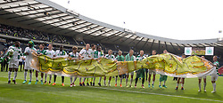 Celtic players celebrate after winning the William Hill Scottish Cup Final at Hampden Park, Glasgow.