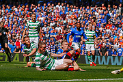 **GOAL** Scott Arfield of Rangers FC scores Rangers 2nd of the game during the Ladbrokes Scottish Premiership match between Rangers and Celtic at Ibrox, Glasgow, Scotland on 12 May 2019.