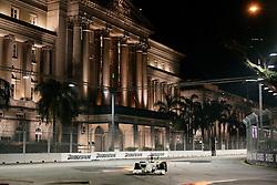 SINGAPORE, SINGAPORE - Saturday, September 26, 2009: Jenson Button during the Singapore Formula One Grand Prix at the Marina Bay Street Circuit. (Photo by: Michael Kunkel/Propaganda)