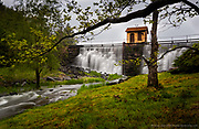 Huntsville Dam in a Spring Rain by Darren Elias Photography