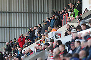 FGR fans celebrate the opening goal during the EFL Sky Bet League 2 match between Morecambe and Forest Green Rovers at the Globe Arena, Morecambe, England on 17 February 2018. Picture by Shane Healey.