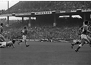 All Ireland Hurling Final - Cork vs Kilkenny.05.09.1982.09.05.1982.5th September 1982.Photographs taken Christy Heffernan (14) strikes at goal.