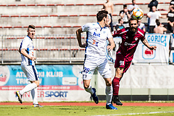 Majcen Luka of NK Triglav and Matteo Tomicek of ND Gorica during Football match between NK Triglav Kranj and ND Gorica in 30th Round of Prva liga Telekom Slovenije 2018/19, on May 2nd, 2019, in Sports park Kranj, Slovenia. Photo by Grega Valancic / Sportida