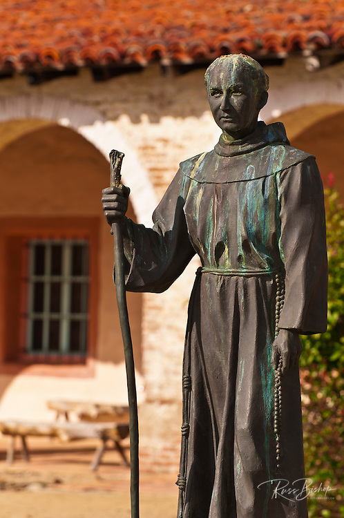 Father Serra statue, Mission San Antonio de Padua (3rd Mission-1771), Jolon, California
